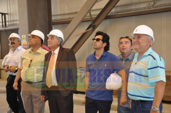 Επίσκεψη του Διευθυντή της ΔΕΗ στο εργοστάσιο του ΑΗΣ στο Αλιβέρι