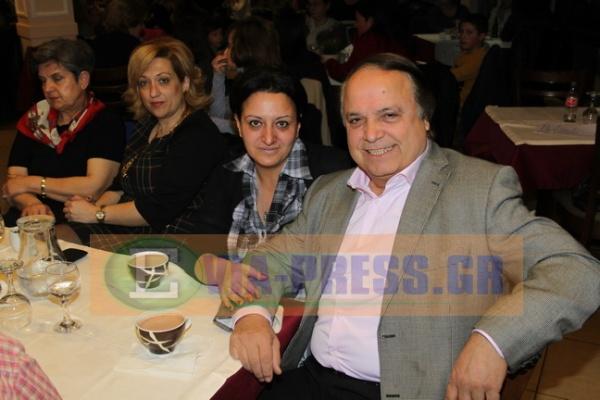 ο υποψήφιος Δήμαρχος Νίκος Φατούσης με την υποψήφια δημοτική σύμβουλο Κατερίνα Τακέλα